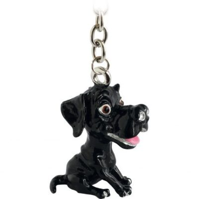 3706 Little Paws Labrador Black Key Ring E1484920205575