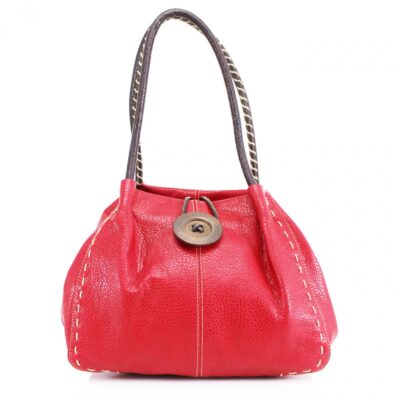 Button Bag Red