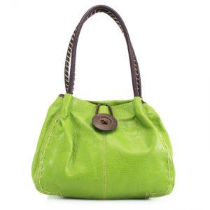 Button Green Bag