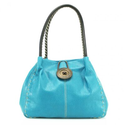 Button Turquoise Bag