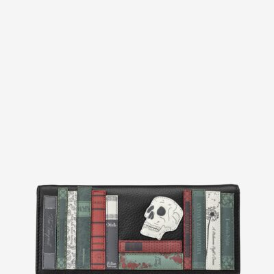 Shakespeare Bookworm Black Leather Hudson Purse A