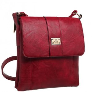 Crossbody Bag in Red By Bessie London