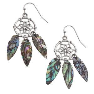 Paua Shell Dream Catcher Earrings