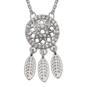 Small Diamante Dream Catcher Pendant Necklace
