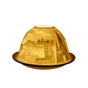 Porcelain Edinburgh Tea Light Candle Holder Lithophane Dome