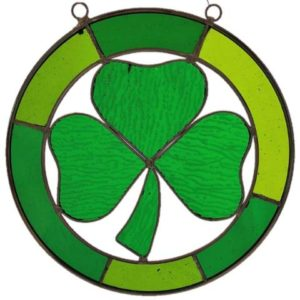 Hanging Stained Glass Shamrock 480x