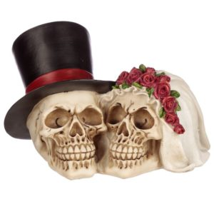 Bride and Groom Wedding Skull Head