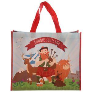 Bonnie Scotland Scottish Piper Shopping Bag
