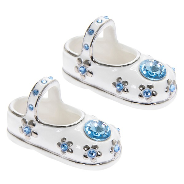 Baby Boy Jewel Shoes Blue Pair - New Baby / Christening ...