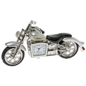 Silver Classic Motorbike Clock – Fathers Day Gift