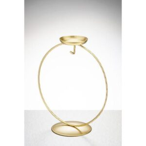 Display Stand Circular Tea Light Gold 480x