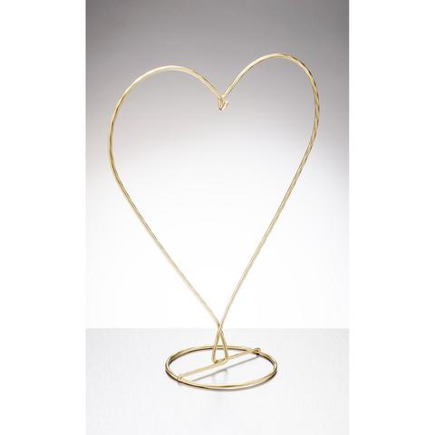 Heart Shaped Display Stand Gold 480x