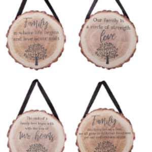 Family Tree Hanging Wooden Plaque