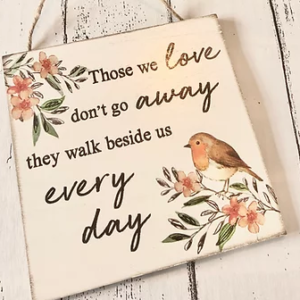 Robin Plaque – Those We Love Don't Go Away……..