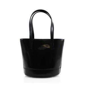 Italian Leather Bucket Style Bag With Shoulder Strap – Black
