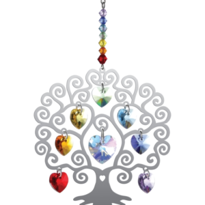 Swarovski Crystal Tree of Life – Chakra Hanging Suncatcher