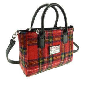 Harris Tweed Small Tote Bag in Royal Stewart Tartan – Brora