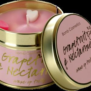 Grapefruit & Nectarine Tinned Candle – Vegan Friendly