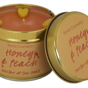 Honey & Peach Tinned Candle – Vegan Friendly