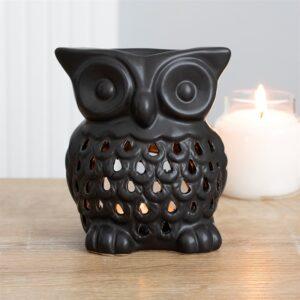 Black Owl Oil Burner / Wax Melt Burner