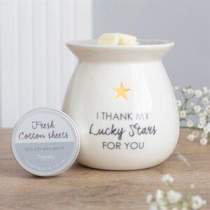 I Thank My Lucky Stars For You Wax Melt Burner Gift Set