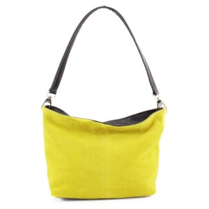 Italian Suede Shoulder Bag – Yellow