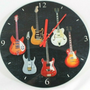 Guitar Glass Clock