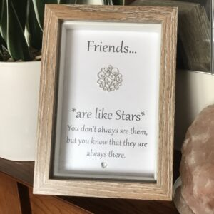 Friends Are Like Stars … Sentiment Box Frame