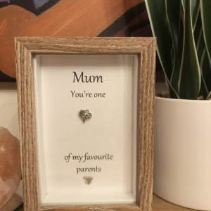 Mum You're One Of My Favourite Parents Box Frame