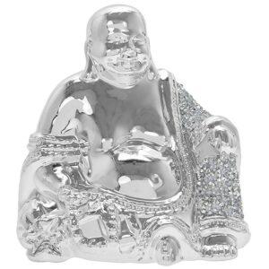 Silver Sparkle Happy Buddha