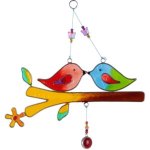 Love Birds On A Branch Suncatcher