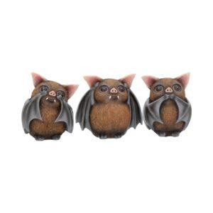 Three Wise Bats Figurines 8.5cm
