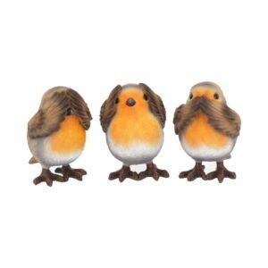 Three Wise Robin Figurines 8cm