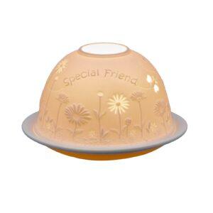 Special Friend Lithophane Picture Porcelain Dome