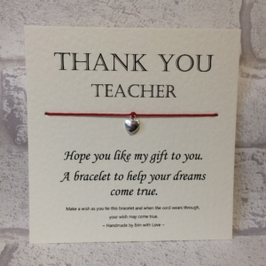 Thank You Teacher Wish Bracelet