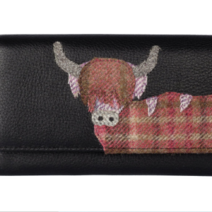Angus the Cow Matinee Leather Purse With RFID Protection