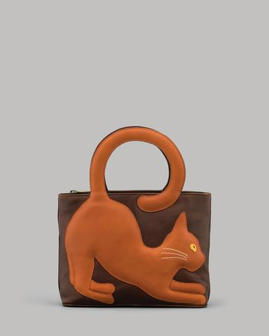Grizabella The Cat Leather Grab Bag By Yoshi