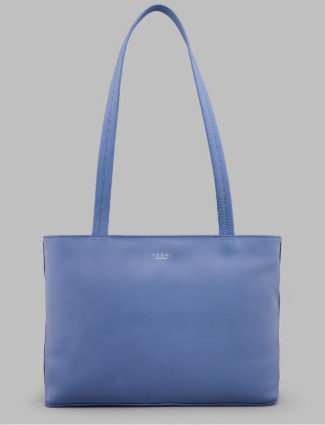 Hambro Leather Shoulder Bag By Yoshi In Cornflower Blue