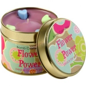 Flower Power Tinned Candle With Essential Oils by Bomb Cosmetics