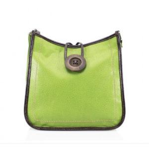 Cross-Body Green Button Bag