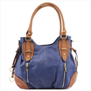 Navy & Tan Shoulder Bag With Additional Cross-Body Strap (Copy)