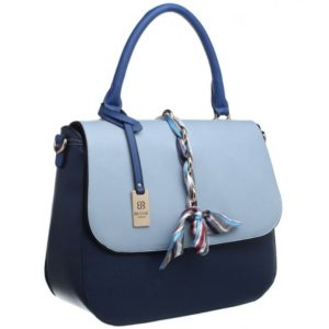Bessie London Silk Ribbon Flap Top Tote Bag With Shoulder Strap
